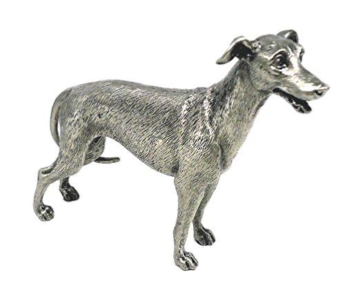 FAITHFUL FRIENDS SOLID PEWTER GREYHOUND DOG STANDING FIGURINE Greyhound Dog Figurine