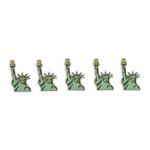 Forge Statue of Liberty Emoji NYC Lady Liberty USA Freedom Enamel Lapel Pin- 5 Pins