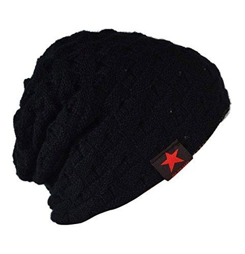 Mujeres para Hombres Gorrita Punto Negro Punto Gorros Invierno y de Sombrero Hombre n8a0WvSqZ