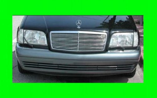 312 Motoring fits Mercedes W140 Chrome Grille Grill KIT S 500 600 280 S-Class 1993 1994 1995 1996 1997 1998 1999 92 93 94 95 96 97 98 99