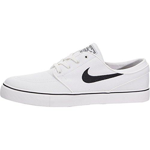 Nike Men's Zoom Stefan Janoski Cnvs Summit White/Black Skate Shoe 10