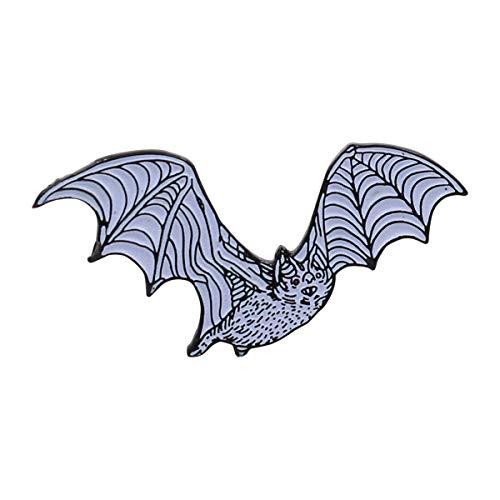 - Real Sic Bat Enamel Pin - Glow-in-The-Dark White Bat Lapel Pin - Cute Derpy Bat for Backpacks, Bags, Jackets & Hats (White)