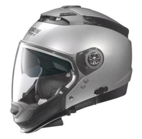 Nolan N44 Trilogy Solid Helmet (Platinum Silver, X-Large)
