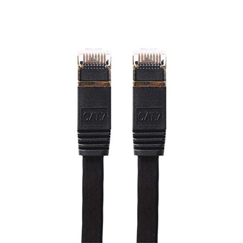 3.3 Feet Ethernet Patch Cable, Emubody CAT7 10 Gigabit Ethernet Ultra Flat Patch Cable for Modem Router, 1M (3.3 Feet)