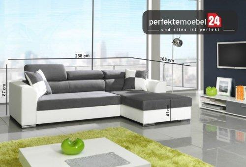 PENELOPE Sofagarnitur Wohnlandschaft Eckcouch Couch Sofa mit Schlaffunktion Ecke (venice)