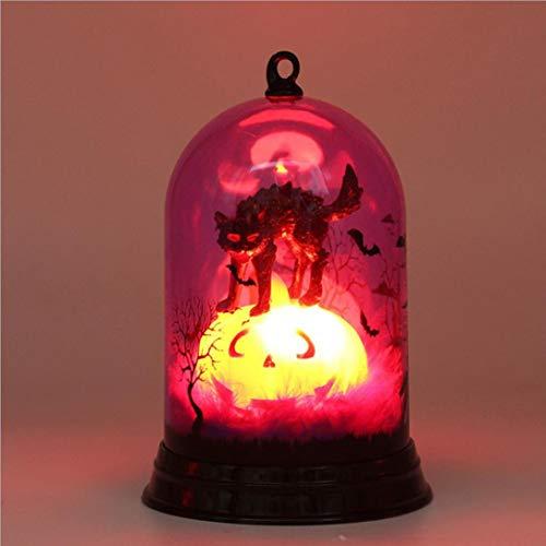 Transer Halloween Night Light, Demon Witch Pumpkin LED Light Holiday Home Decoration Lamp Gift (A)