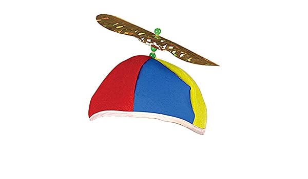 b5492b49250 ... more photos 570f0 1099e Amazon.com Multi Color Felt Spinning Propeller  Clown Beanie Hat Everything ...