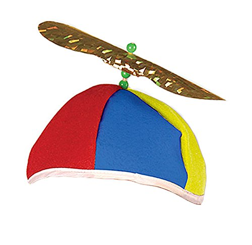 Adult Spinning Multicolor Propeller Clown Beanie Felt (Dork Costumes)