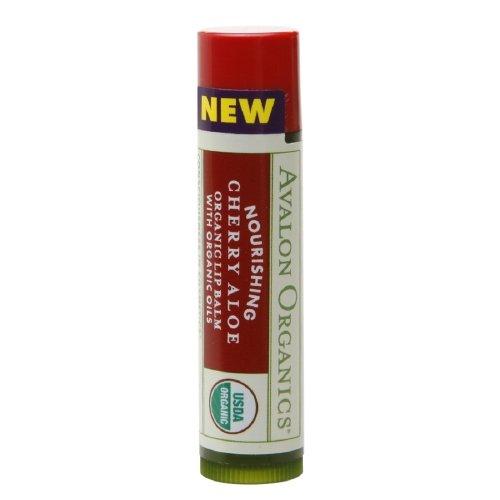 Avalon Organic Botanicals Nourishing Cherry Aloe Organic Lip Balm, 0.15 Oz, 3 Pack TriDerma Intense Fast Healing Multi-Purpose Cream (4 oz tube)