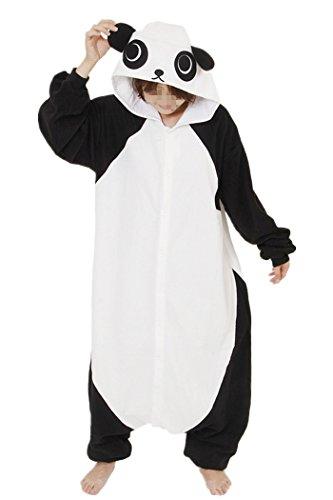 - Lifeye Men Women Panda Pajamas Animal Cosplay Costume White