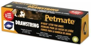Petmate Hi Back Pan Drawstring Liners 8ct Jumbo by Doskocil