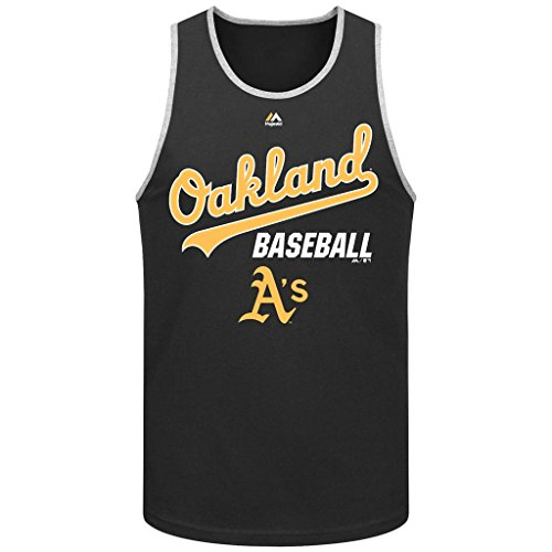 2007 All Star Jersey (MLB Men's Majestic All Of Destiny Tank Top (Small, Oakland Athletics A's))