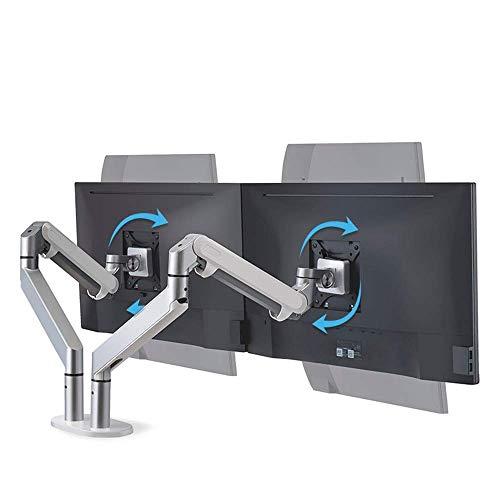 Mesa plegable de almacenamiento Rack PC Pantalla completa de movimiento del brazo en voladizo Abrazadera de montaje ergonomica altura de la mesa auxiliar (Color : Silver , Size : 66.8*22.5*12.5cm)