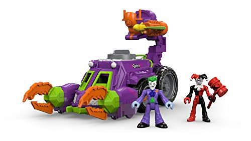 Fisher-Price Imaginext DC Super Friends Streets of Gotham City The Joker & Harley Quinn Battle Vehicle