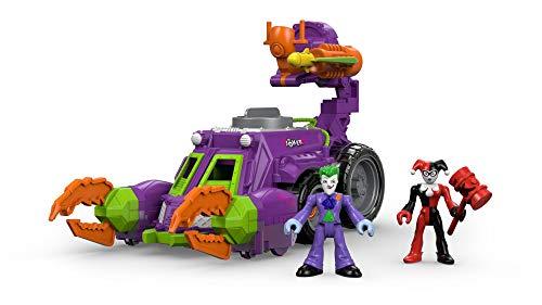Fisher-Price Imaginext DC Super Friends Streets of Gotham City The Joker & Harley Quinn Battle Vehicle]()