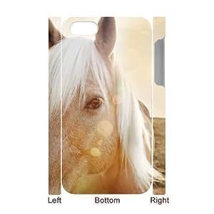 Horse Running Custom 3D Cover Case for Iphone 4,4S,diy phone case ygtg522219