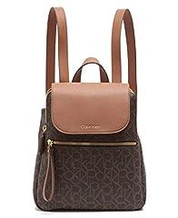 Calvin Klein Elaine signature key item flap backpack.