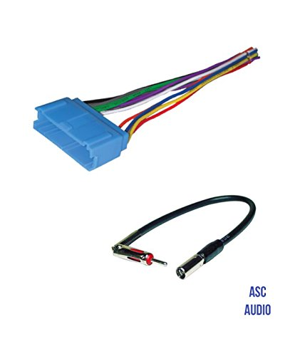 ASC Audio Car Stereo Radio Wire Harness and Antenna Adapter to Aftermarket Radio for some Buick Cadillac Oldsmobile - No Factory Bose/Amp- Vehicles Listed below