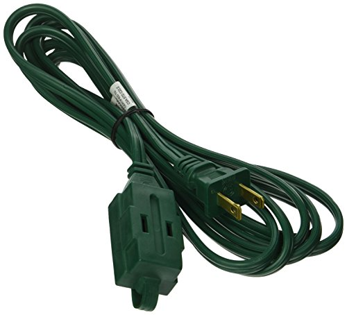 POWER ZONE OR780609 Powerzone Spt-2 Extension Cord, 16/2, 9 Ft, 9-Feet - Green Indoor Extension Cord