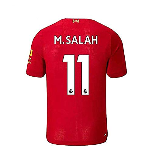 #11 M Salah Liverpool Home Soccer Jersey 2019-2020 Mens Sccer Jersey Color Red (L)