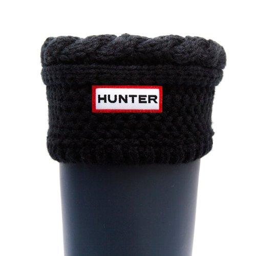 Hunter Cable verde musgo corto botas de calcetines – crema, color negro, talla L