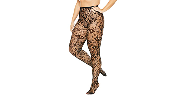 Comfort Choice Womens Plus Size 2-Pack Lace Tights