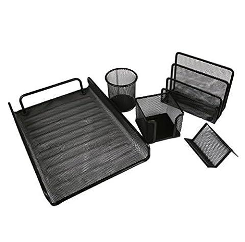 5 PCS Suppliers Office Floder Desk File Set Organizer Tool Mesh Tray Metal File Pencil Holder