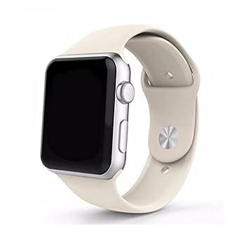 9178d13bfb0 Pulseira Sport em Silicone para relógio Apple Watch 42mm Series 3 2 1 ( Branco Antigo