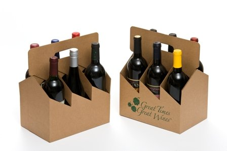 6pk Open Wine Carrier - Printed