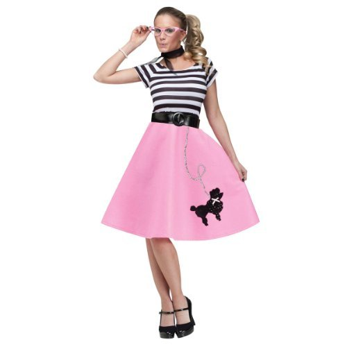 50 S Costumes (Fun World  Women's 50's Poodle Dress -)