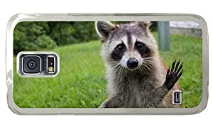 Hipster Samsung Galaxy S5 Cases buy raccoon funny PC Transparent for Samsung S5