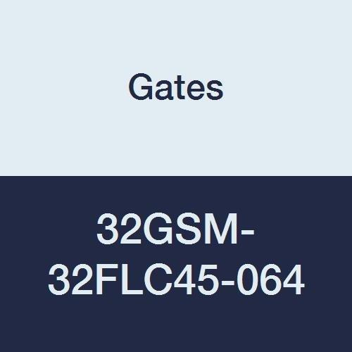 Gates 32GSM-32FLC45-064 GlobalSpiral Series MAX Pressure Couplings 45 Degree Bent Tube Caterpillar Style O-Ring Flange 2 ID