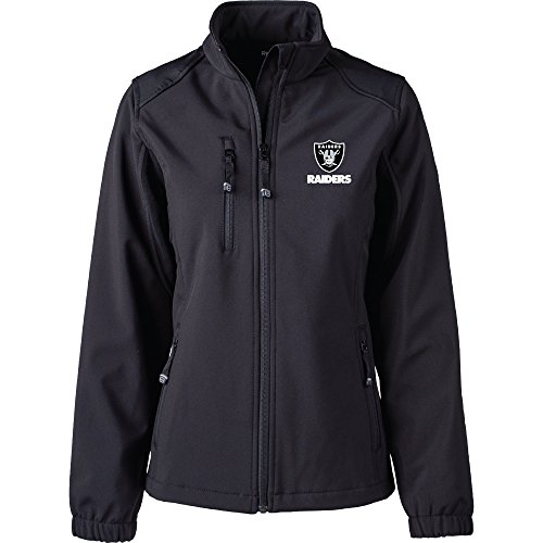 Dunbrooke Apparel NFL Oakland Raiders Women's Softshell Jacket, 2X, (Oakland Raiders Womens Jackets)