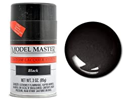 Testors Model Master Lacquer Spray Paint Black