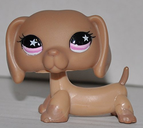 Loose Figure Littlest Pet Shop (Dachshund #932 (Brown, Pink Eyes) - Littlest Pet Shop (Retired) Collector Toy - LPS Collectible Replacement Single Figure - Loose (OOP Out of Package & Print))