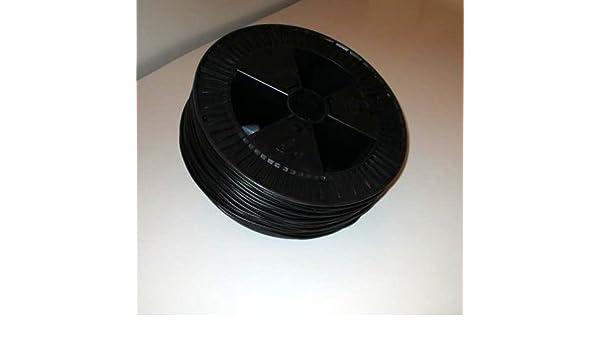 Plástico alambre de soldadura PP Entorchado Redondo Negro 4 mm de diámetro aprox. 180 metros.: Amazon.es: Bricolaje y herramientas