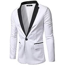 What Lees Mens One Button Contrast Split Slim Fit Blazer Coat