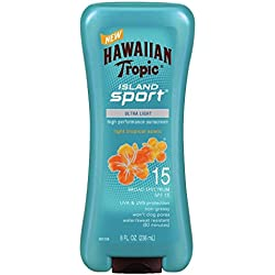 Hawaiian Tropic Sunscreen Island Sport Broad Spectrum Sun Care Sunscreen Lotion - SPF 15, 8 Ounce