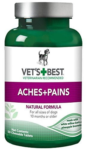 Vet's Best Aspirin Free Aches & Pains Formula Chewable Tablets, 50 Count - Pack of 2 (100 Tablets Total) ()