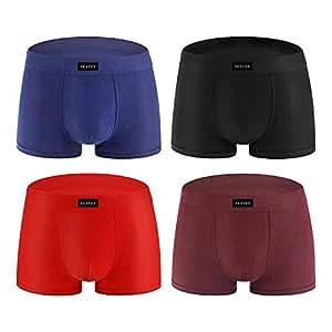 Men's Classic Boxer Briefs Underwear Low Rise Men Pouch Shorts Breathable Elastic Underpants