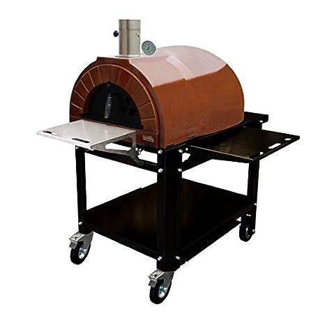 Amphora Ready con ruedas (Amphora Plus + Soporte con ruedas) Pizza Horno: Amazon.es: Jardín
