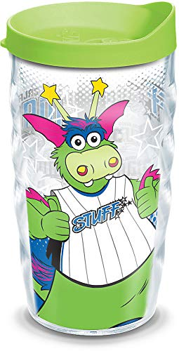 (Tervis 1135222 NBA Orlando Magic Mascot Insulated Tumbler with Wrap and Lime Green Lid 10oz Wavy Clear)
