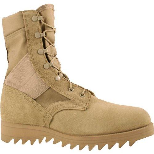 Weather Military Boots - McRae Mens Desert Tan Suede/Cordura Hot Weather Ripple Military Boots 11 R