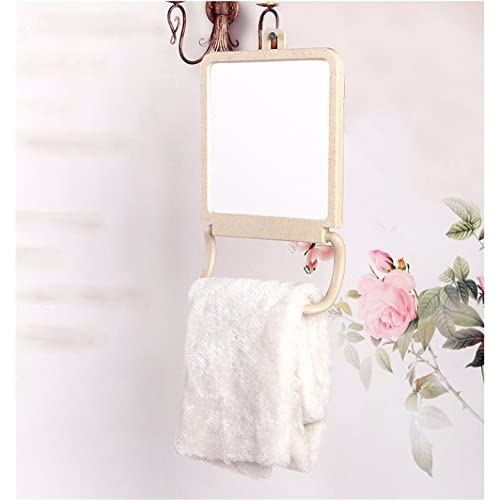 Beauty Mirror Makeup Mirror Magnification Vanity Cosmetic Mirrors Shaving Mirror Hd Single-Sided Desktop Makeup Mirror Vanity Mirror Hanging Desktop Home Bedroom Princess Mirror 29×18Cm 30%OFF