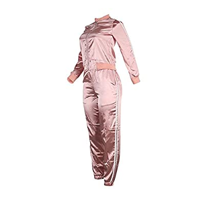 MS Mouse Women's Casual Sport Tracksuit Zip Up Jacket and Pants 2 Piece Outfit