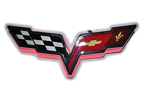 LED Illuminated Red Rear Emblem Fits Corvette -2005-2013 C6 Z06 ZR1 Grandsport