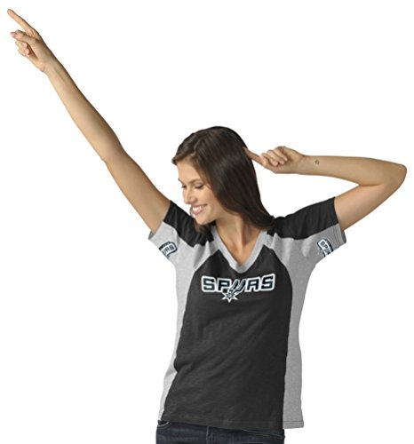 NBA San Antonio Spurs Women's Sideline Tee, Large, Black/Gray