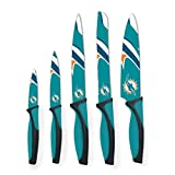 Sports Vault NFL Miami Dolphins Kitchen Knives