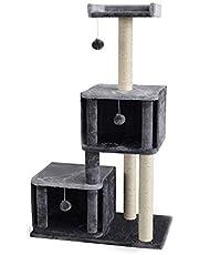 Playmate Saltbush Cat Treehouse Scratch Pole
