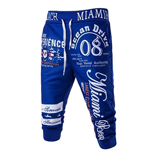 Marca Uomo Mode Di Casual Blau Sportivi Nuovi Pantaloni Jogging Bolawoo 3 Stampa Con Coulisse Polsino Da qzPwafxt